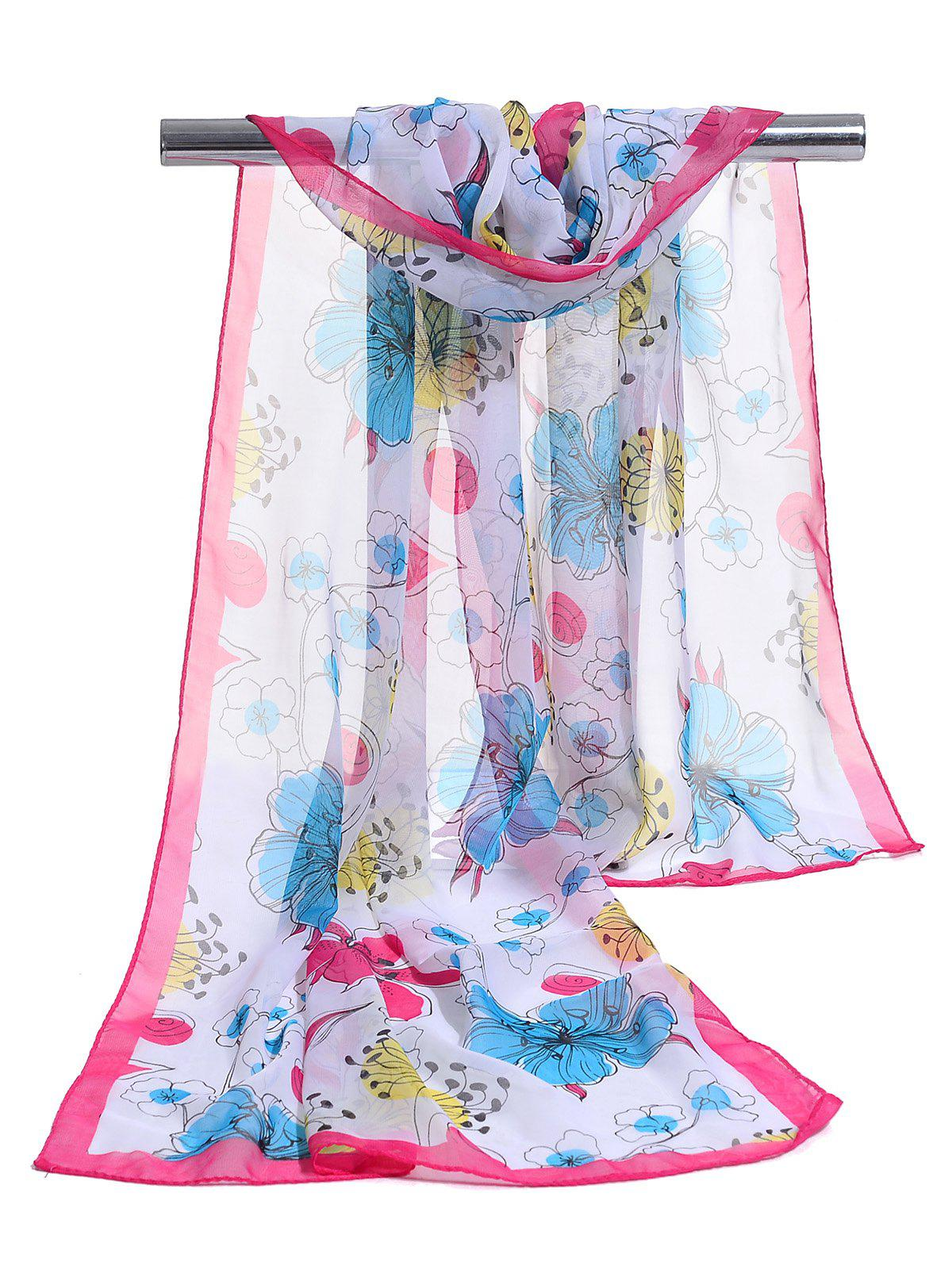 Trendy Blooming Floral Pattern Spring Fall Scarf