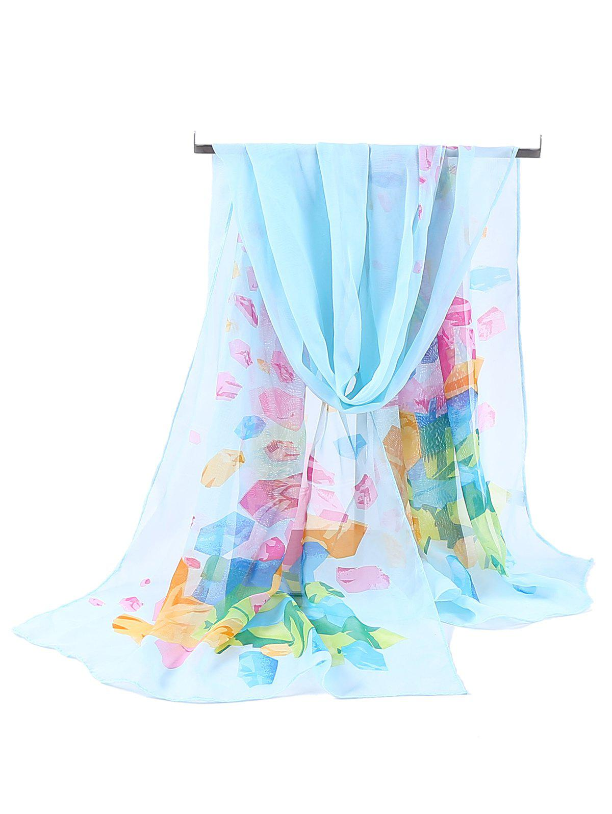 Buy Floral Pattern Printed Soft Chiffon Scarf