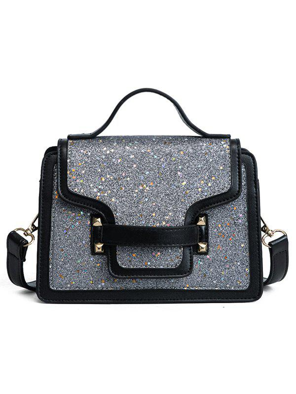 Online PU Leather Shimmer Crossbody Bag with Handle