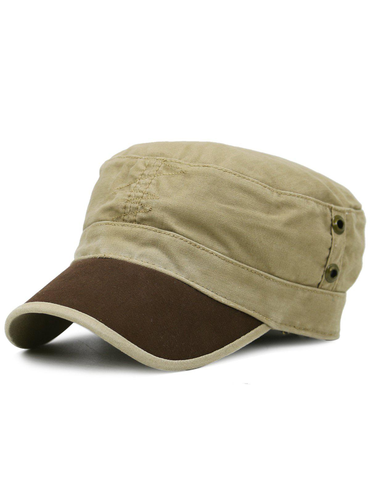 Latest Line Embroidery Adjustable Military Hat