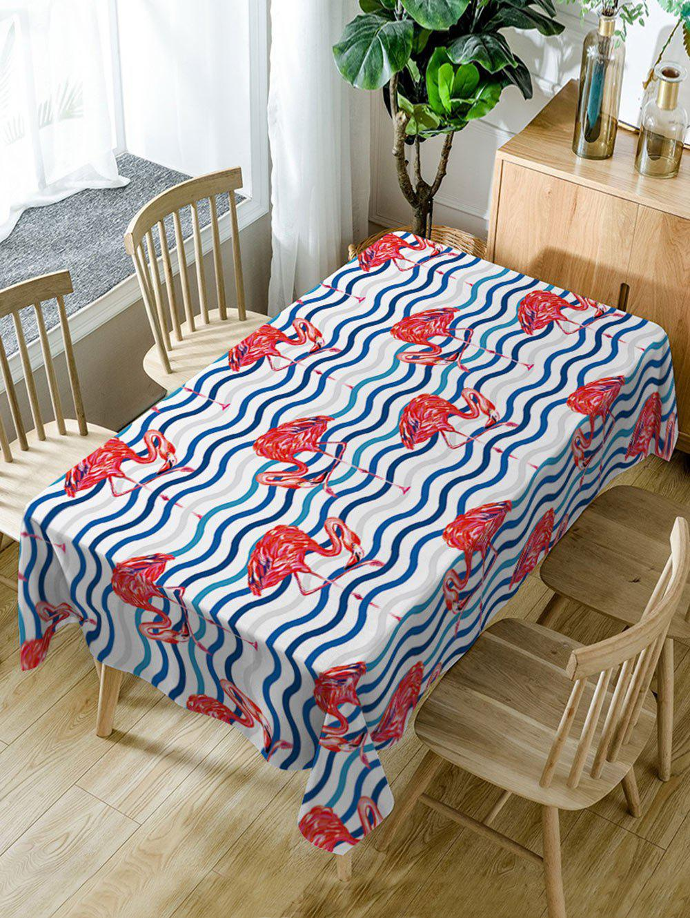 Fancy Flamingo Print Waterproof Dining Table Cloth