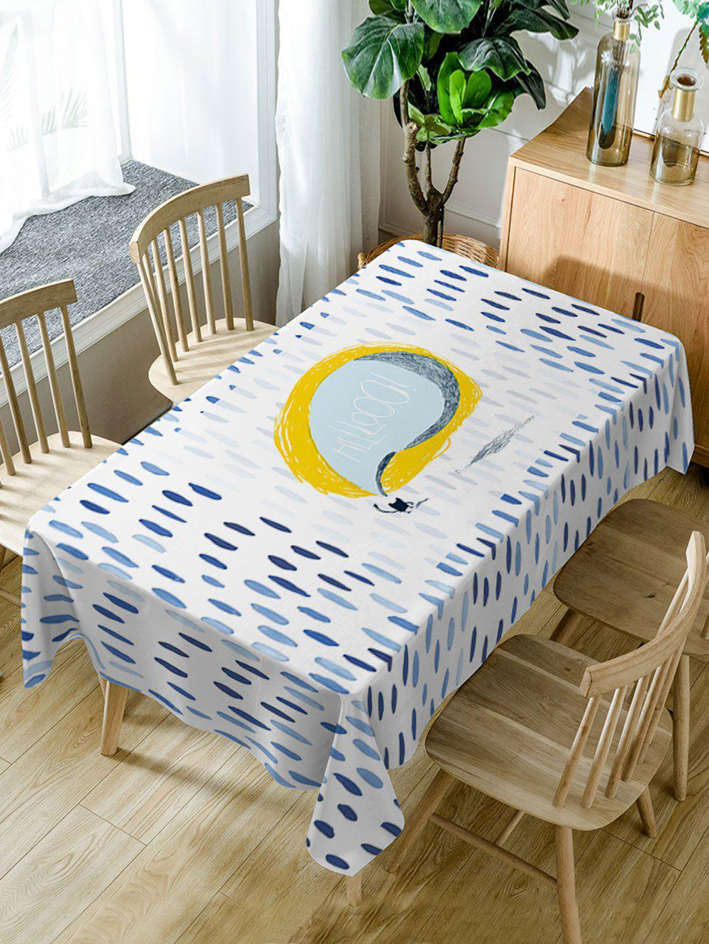 Fashion Rain Print Waterproof Table Cloth