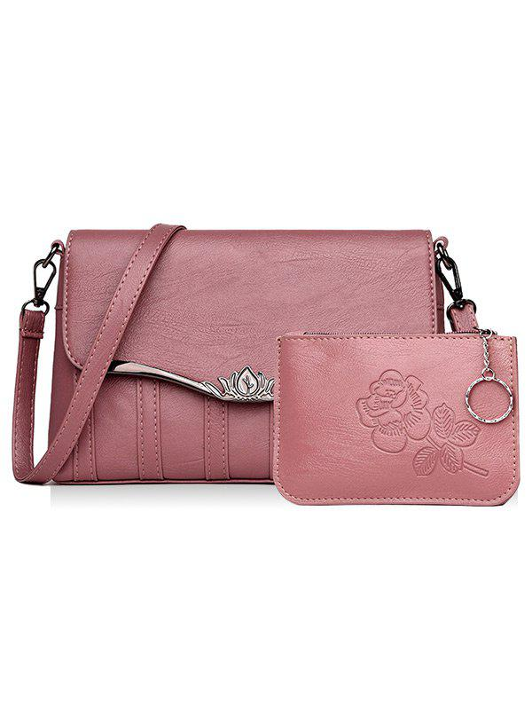 Latest 2 Pieces Flapped Crossbody Bag Set