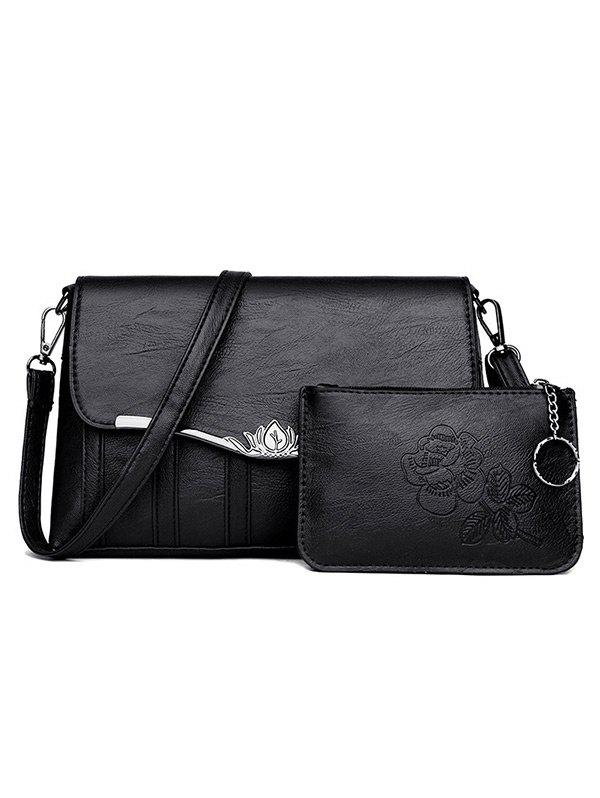 Best 2 Pieces Flapped Crossbody Bag Set