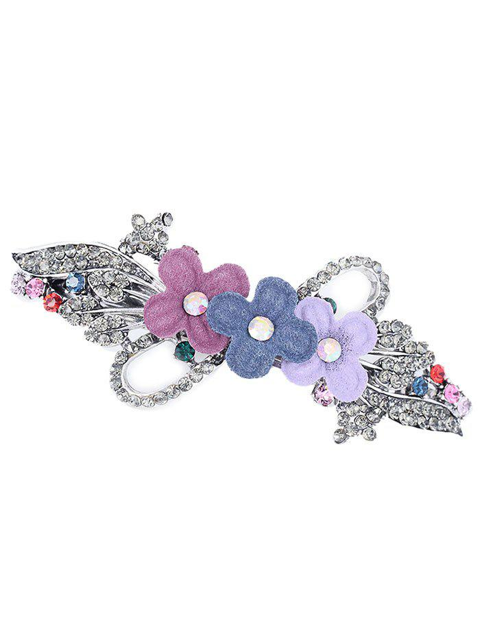Fashion Statement Floral Rhinestone Inlaid Hair Clip