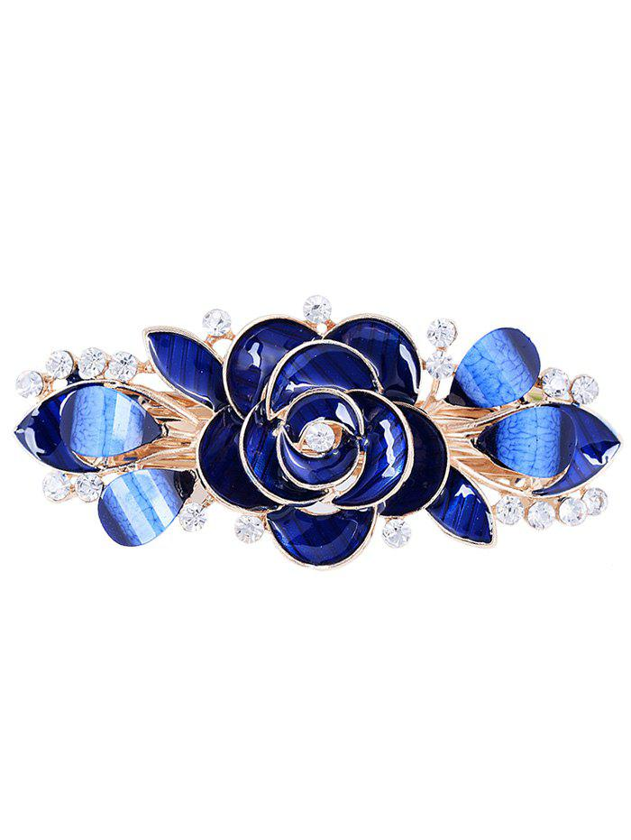 Online Unique Floral Rhinestone Inlaid Barrette