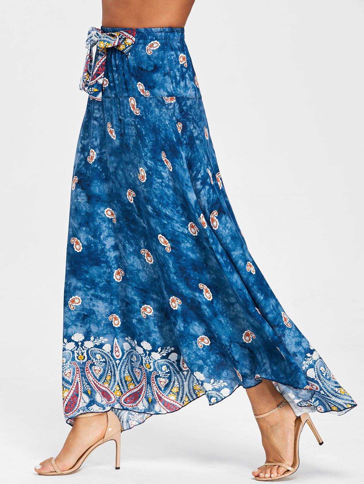 Outfit Print Maxi Flowy Skirt