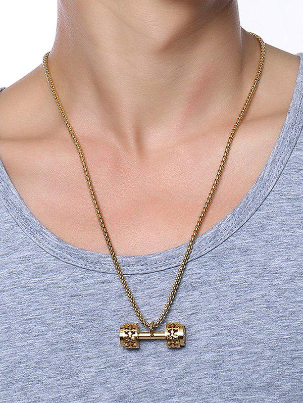 Latest Cool Gear Barbell Pendant Collarbone Necklace