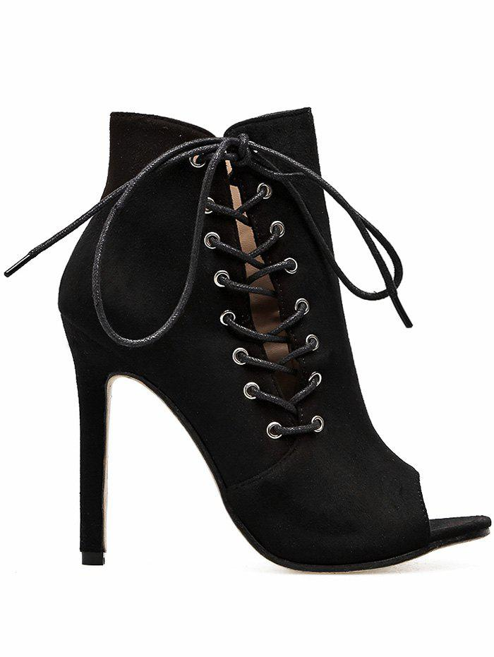New Super High Heel Peep Toe Bootie Sandals