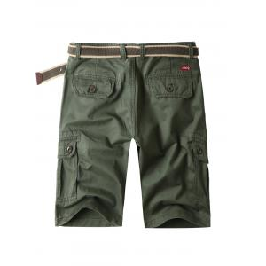 Zip Fly Cargo Shorts with Flap Pockets -