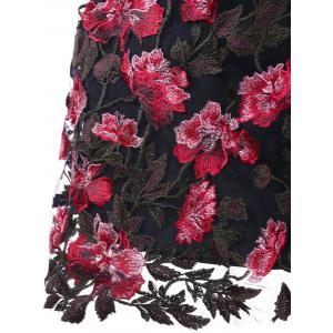 Robe taille haute à broderie florale Appliqued Swing -