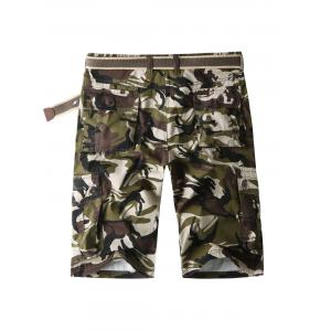 Camouflage Cargo Shorts with Multi Pockets -