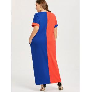 Color Block Plus Size Slouchy T-shirt Dress -