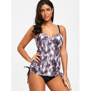 Drawstring Ruched Cami Tankini Set -
