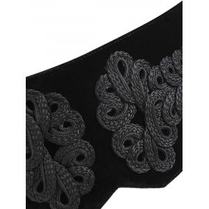 Lace Up Velvet Cummerbund -