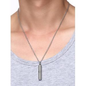Claw Print Cylinder Collarbone Ashes Necklace -