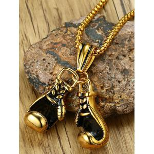 Stainless Steel Boxing Glove Collarbone Necklace -