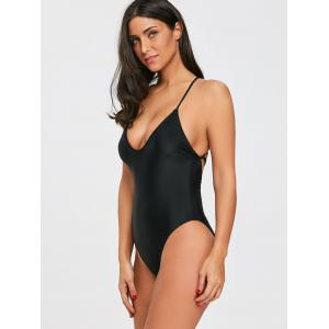 Criss Cross High Cut Swimsuit -