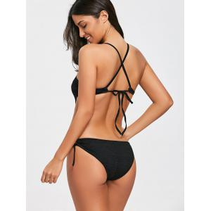 Criss Cross Openwork Low Back Swimsuit -