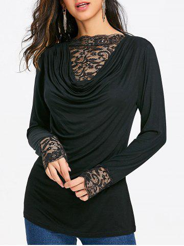Latest Lace Panel Long Sleeve T-shirt
