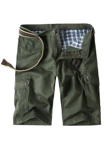 Cheap Zip Fly Cargo Shorts with Flap Pockets