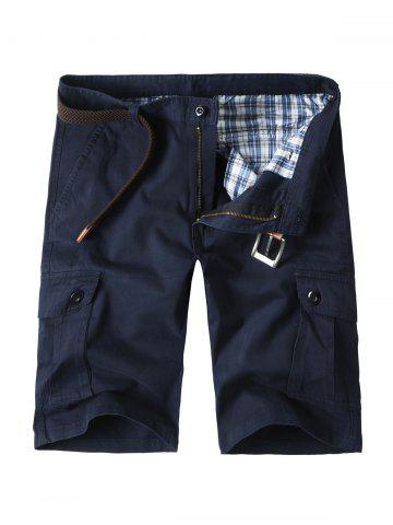 Fancy Zip Fly Cargo Shorts with Flap Pockets