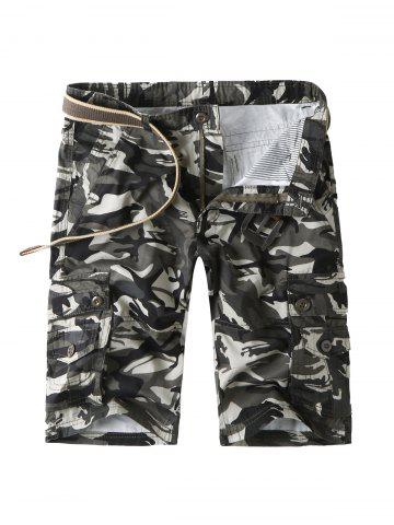 Outfits Camouflage Cargo Shorts with Multi Pockets