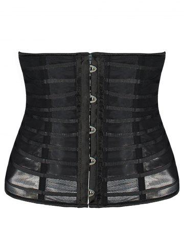 New Mesh Straps Sheer Cincher Corset
