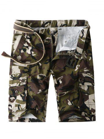 Short cargo camouflage avec poches multiples