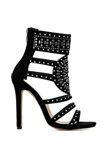 Cheap Rhinestone Embellished High Heel Gladiator Sandals