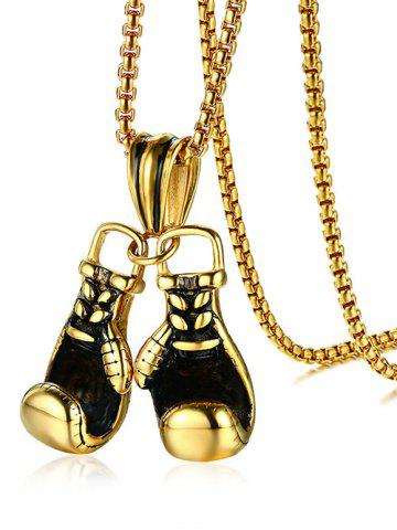 Chic Stainless Steel Boxing Glove Collarbone Necklace
