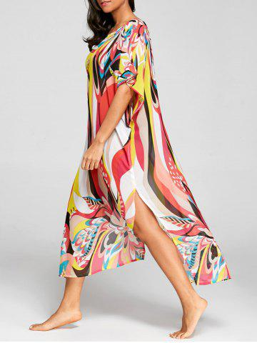 Fashion Floral Print Chiffon Cover Up Dress