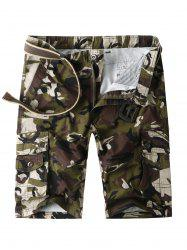 Short cargo camouflage avec poches multiples -
