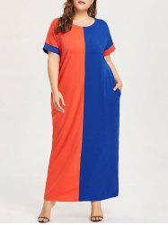 Robe T-shirt Contrastante Grande Taille -