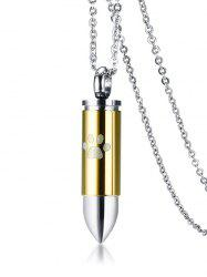 Claw Print Bullet Pendant Collarbone Ashes Necklace -