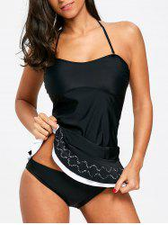 Backless Frill Tankini Set -