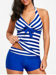 Striped Halter Tankini Set -
