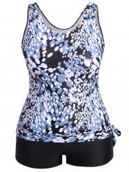 Ellipse Print Plus Size Tankini -