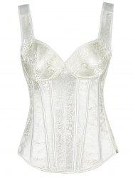 Plant Jacquard Push Up Wedding Corset -