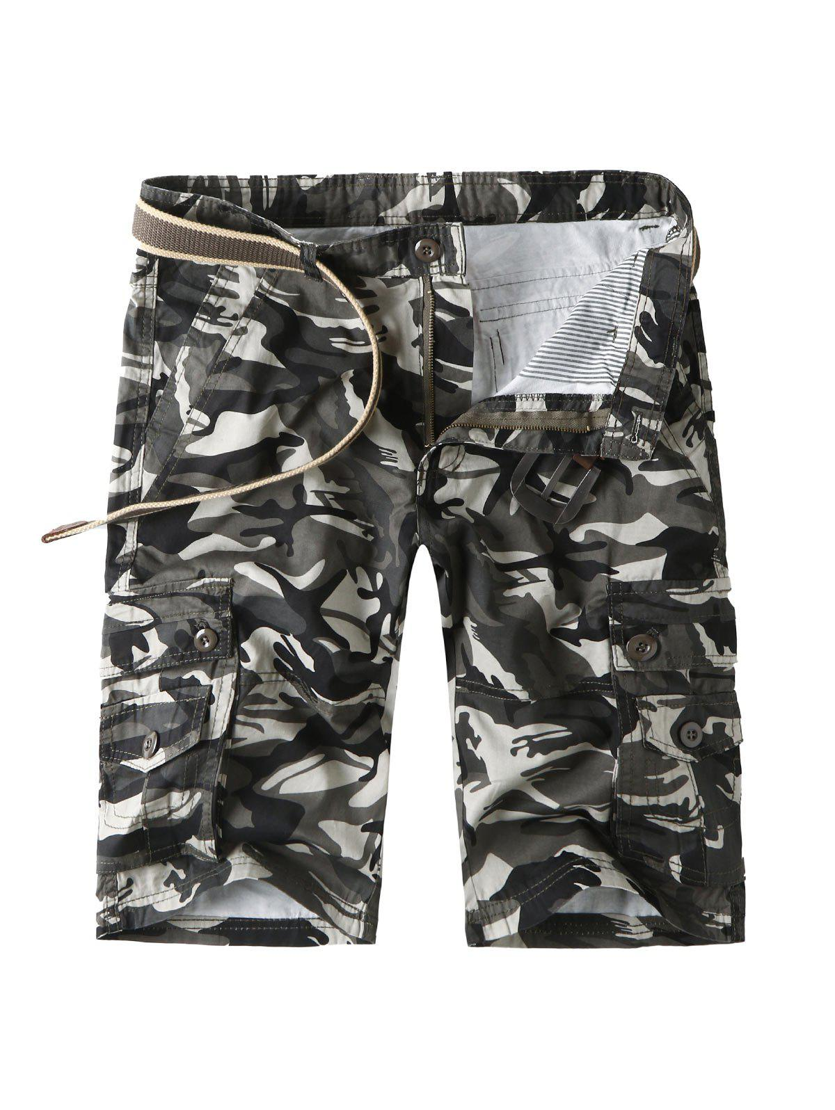 Shops Camouflage Cargo Shorts with Multi Pockets