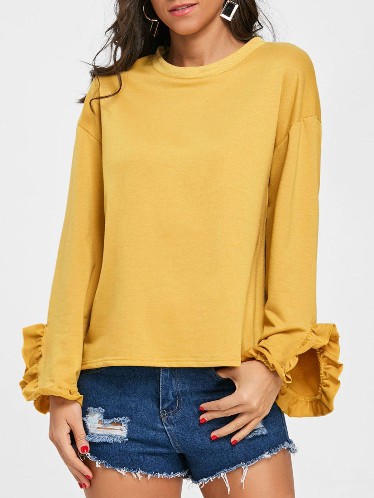 Cheap Ruffled Drop Shoulder Tee