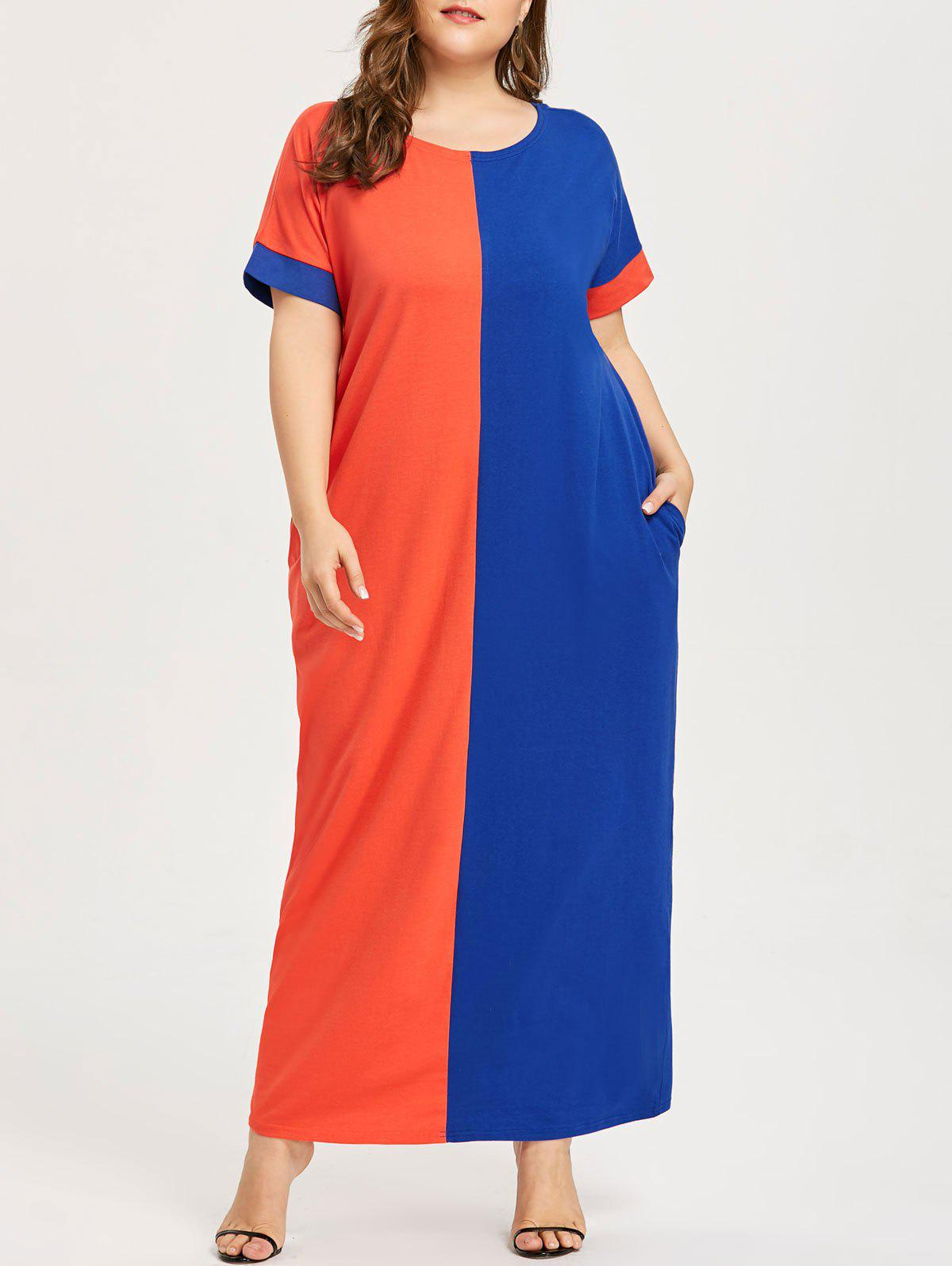 Robe T-shirt Contrastante Grande Taille