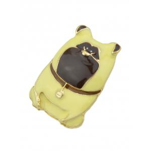 Alloy Pet Dog with Bells Pattern Brooch -