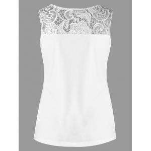 Lace Insert Fitted Tank Top -