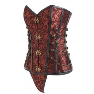 Chains Vintage Brocade Lace-up Corset -