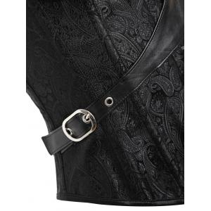 Lace-up Steampunk Brocade Corset -