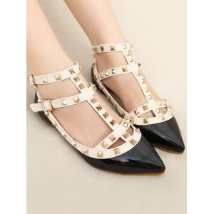 Rivets Ankle Wrap Flats -