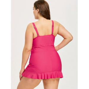 Plus Size Ruffle Backless Tankini Set -