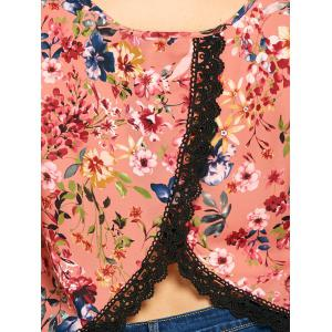 Plus Size Overlap Tiny Floral V Neck Tank Top -