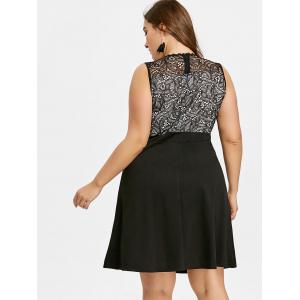 Dentelle Insert Plus Size Party Dress -